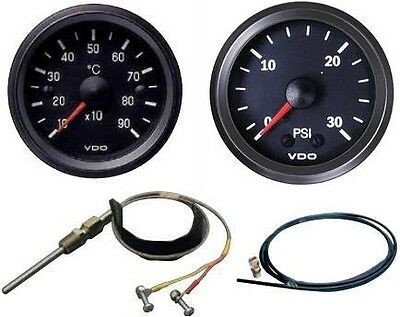 VDO Pyrometer kit with 30PSI boost gauge & air line with 1/8 NPT engine fitting