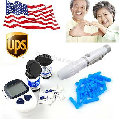 Glucose Monitor Glucometer Blood Sugar Test Meter With free Strips & Lancets USA