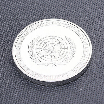 40MM The United Nations Commemorative Coin Flowers Silver Commemorative Coins