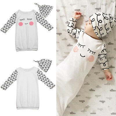 New Baby Infant Summer Outfits Swaddle Blanket Wraps Sleeping Bag Cotton 0-12 M