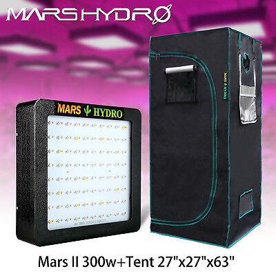 "Mars II 400W Led Grow Light Plant Panel Kit+27""x27""x63""Indoor Grow Tent Room Box"