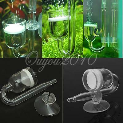 Fish Aquarium CO2 Diffuser Glass Reactor + Ceramic Disc Planted Tank System UK