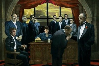 MAFIA GANGSTERS SOCIAL POSTER (91x61cm)  PICTURE PRINT NEW ART