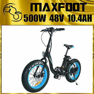 Motoegg Maxfoot Electric Bicycle Adults&Teenagers Folding Fat Tire 500W 48V Mf2