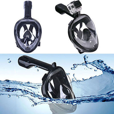 L/XL Hot Breath Full Face Mask Surface Diving Snorkel Scuba for GoPro Swim Tools