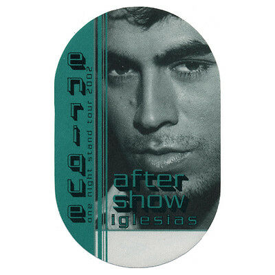 Enrique Iglesias Green Aftershow 2002 Backstage Pass