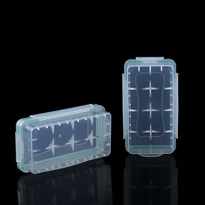 2pcs Clear Plastic Battery Protective Cover Case Storage Holder for 18650/CR123A