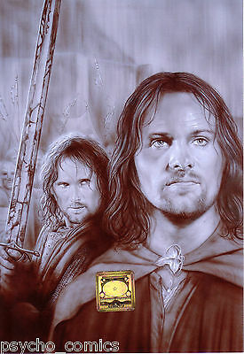 .lord of the rings.14 x .A.4 ORIGINAL PRINT by duncan gutteridge.exclusive