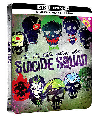 SUICIDE SQUAD - STEELBOOK COLLECTOR'S EDITION (BLU-RAY 4K + 2K) Will Smith