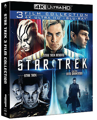 Star Trek + Star Trek Into Darkness + Star Trek Beyond (6 Blu-Ray 4K Uhd + 2K)