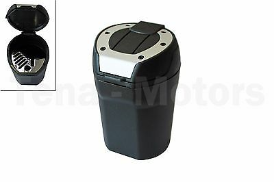 Black Car Auto Portable Cigarette Smoking Cup Ashtray Ash Tray Holder Lid 303302