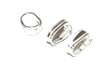 STS13 - 10 925 STERLING SILVER SPRING BAILS JEWELLERY CRAFT BAIL FINDINGS - 6mm