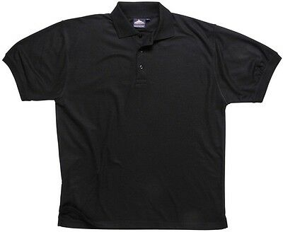918 Black Naples Polo Shirt Xxxl B210BKRXXXL Portwest New