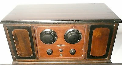 vintage * AIRLINE BATTERY / TUBE  RADIO:  Untested / BEAUTIFUL CABINET - clean