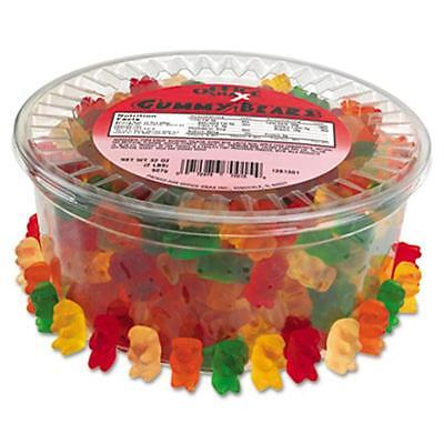 Office Snax 70015 Gummy Bears Assorted Flavors 2 lb/Tub