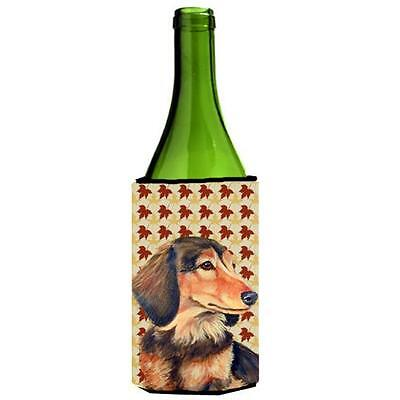 Carolines Treasures Dachshund Fall Leaves Portrait Wine Bottle Hugger 24 oz.