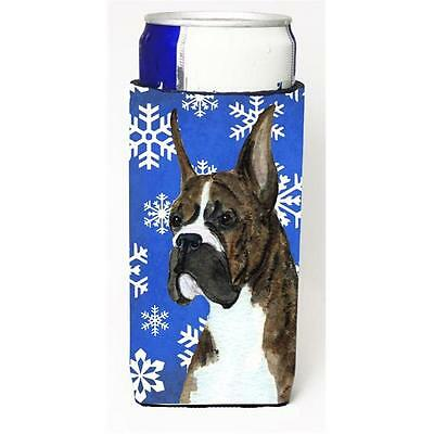 Boxer Winter Snowflakes Holiday Michelob Ultra bottle sleeves For Slim Cans 1...