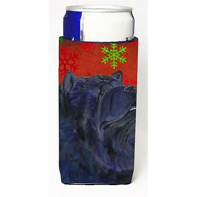 Chow Chow Red And Green Snowflakes Holiday Christmas Michelob Ultra bottle sl...