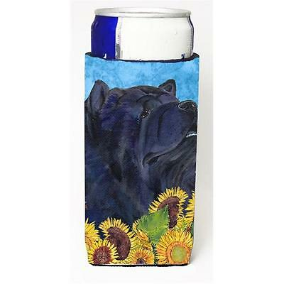 Chow Chow In Summer Flowers Michelob Ultra bottle sleeves For Slim Cans 12 oz.