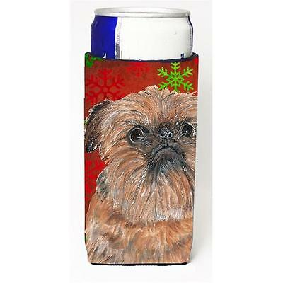 Brussels Griffon Red Snowflake Christmas Michelob Ultra bottle sleeves For Sl...