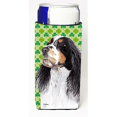 Springer Spaniel St. Patricks Day Shamrock Portrait Michelob Ultra bottle sle...