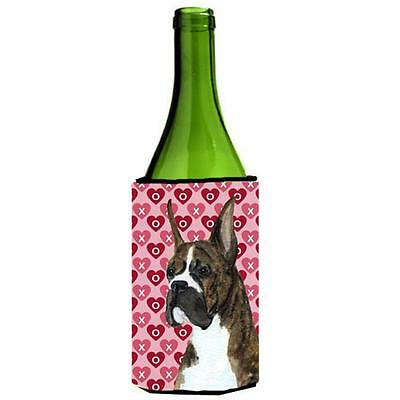 Boxer Hearts Love And Valentines Day Wine bottle sleeve Hugger
