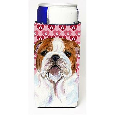 Bulldog English Hearts Love Valentines Day Michelob Ultra bottle sleeves For ...