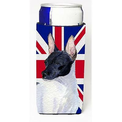 Rat Terrier With English Union Jack British Flag Michelob Ultra bottle sleeve...