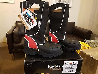 FireDex Leather Fire Boots NFPA 1971 Size 8 XW FDXL100