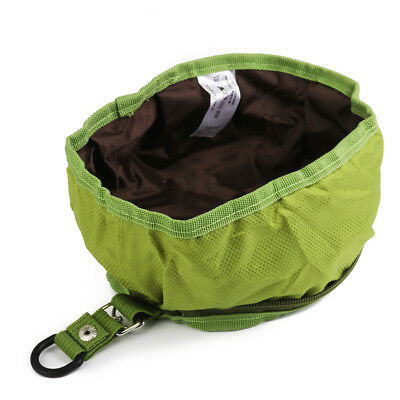 Foldable Pet Dog Cat Bowl Food Feeder for Camping Travel Hiking 1pcs Green