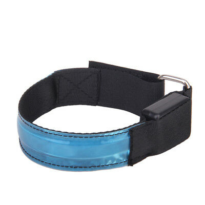 Running Cycling LED Flashing Adjustable Reflective Armband - Blue