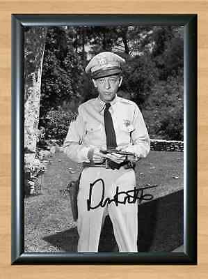 Don Knotts The Andy Griffith Show Signed Autographed A4 Print Photo Memorabilia