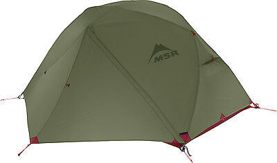 MSR Elixir 2 Man Green Freestanding Geodesic Lightweight Motorcycle Biker Tent