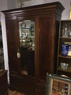 Large Edwardian Mirrored Wardrobe Ideal Project
