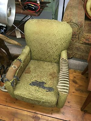 Unusual Deco Low Easy Arm Chair