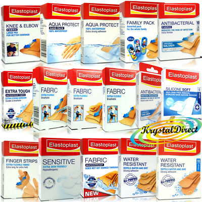 Elastoplast Assorted Plasters Strips - Wounds, Cuts, First Aid, Grazes