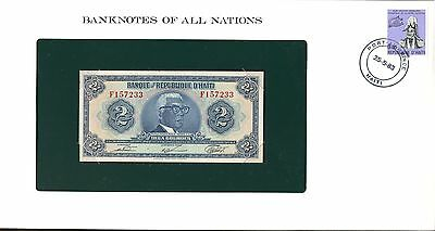 "Haiti ~ 1979 ~ 2 Gourde Note ~ Cu ~ ""banknotes Of All Nations"""