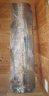 """Primitive Rustic Reclaimed BARN Wood Fireplace Mantle Shelf Bench 4ft X 1ft X 2"""""""