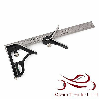 "12"" 300Mm Carpenters Combination Square With Level And Scriber Precision Measure"