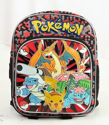 "Pokemon Pikachu Small Backpack 10"" Small Mini Backpack Boys Kids Girls Bag  New"