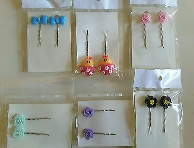 Wholesale joblot hair accessories 6 pairs hair slides, grips brand new (pack I)