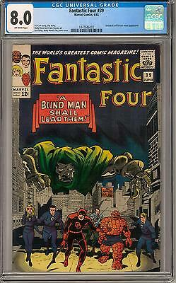 Fantastic Four #39 CGC 8.0 (OW) Daredevil & Dr. Doom appearance