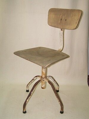 Old Workshop Chair, Art Deco Swivel Chair Vintage Design Workshop Stools