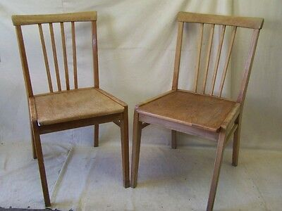 2x Old Wood Chair, Iconic Retro Design Vintage Kitchen chair, 1950s Year chair