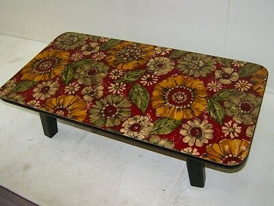Beautiful old small Flower bench, Side table Iconic Retro Design 1960s 70s