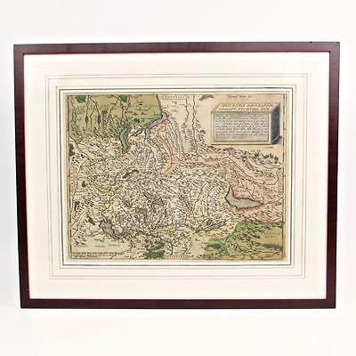 Antique 1574 Abraham Ortelius SWITZERLAND Map Hand Colored Engraved ORIGINAL
