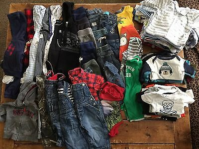 HUGE Baby Boy All 0-9 Months Infants Clothes Lot 90+ Pieces Fall Winter Wardrobe