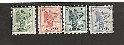1922 ERITREA Italy SC#54-57 Winged Angel MH stamps