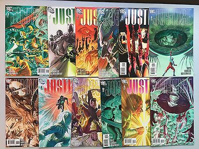 Complete Set of JUSTICE by Alex Ross (DC Comics, 2005) #1 to #12 - Gloss Covers