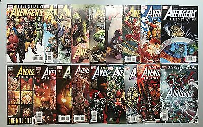 Nice run of 18 x AVENGERS: THE INITIATIVE (Marvel, 2007) #1 to #18